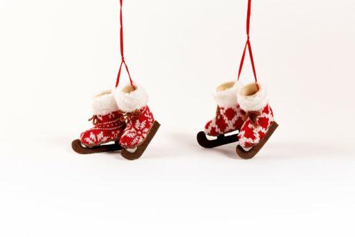 kerstboomhangers schaatsen