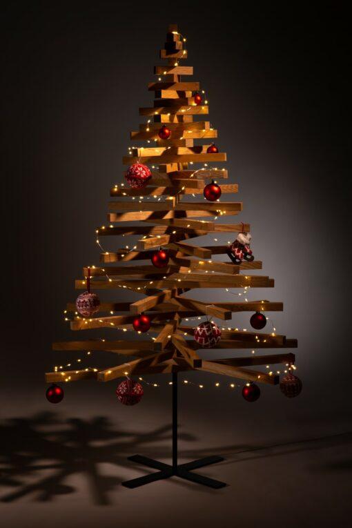 houten kerstboom decoratie