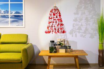 kerstboom aan de muur